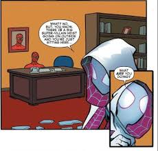 Spiderman Desk Meme - we all know what spiderman is doing behind that desk imgur