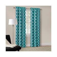 Walmart Red Grommet Curtains by Amazon Com Mainstays Rich Teal Calix Fashion Window Curtain Set