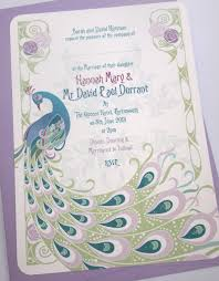 Peacock Wedding Programs Wedding Invitation Ideas Lovely Purple Peacock Wedding