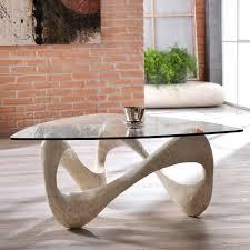 Wohnzimmertisch Oval Couchtisch Holz Glas Atemberaubenduchtisch Schublade Design Domi