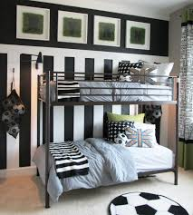 this young soccer star loves his moder yet whimsical new bedroom this is what inspired me to write a soccer bedroom ideas ranging from wall paper decoration ball poster to cool the bed