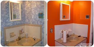 painting bathroom tile and painted bathroom tile before and after