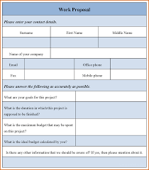 7 work proposal template authorizationletters org