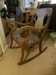 antique scroll arm rocking chair collectors weekly