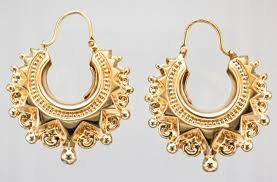 9ct gold earrings 9ct gold style creole earrings attenborough