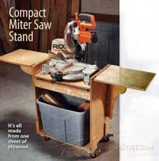 wood storage and miter saw stand plans u2022 woodarchivist