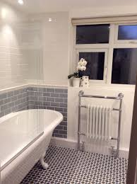 Grey And White Bathroom Ideas Got Told U Could Only Put A Screen On A Drop In Bath