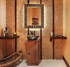 lighted bathroom mirror contemporary with stone accent wall swivel