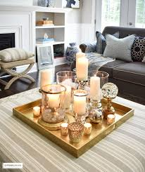Trays For Coffee Table Ottomans 3 Ways To Style Your Coffee Table Or Ottoman