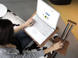Wooden Laptop Desk by Lounge Wood Sail Notebook Holder