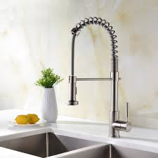 lead free kitchen faucets avola lead free kitchen sink faucet wih pull out sprayer pull down