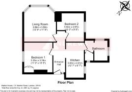 Walton House Floor Plan by 2 Bedroom Flat For Sale In Walton House 131 Merton Road London