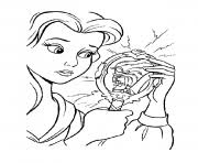 belle beast feeding birds disney princess 9cb5 coloring pages