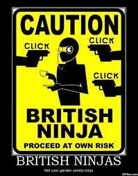 Funny British Memes - british ninjas not your garden variety ninja funny meme image
