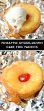 pineapple upside down cake foil packets