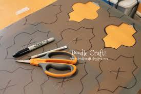 doodlecraft stencil a round kitchen table tutorial
