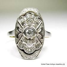 1930 u0027s platinum 18ct gold diamond art deco ring