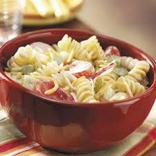 creamy pasta salad recipe creamy pasta salad recipe taste of home