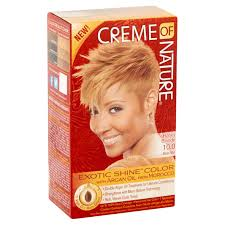 creme of nature exotic shine color hair color 10 0 honey blonde