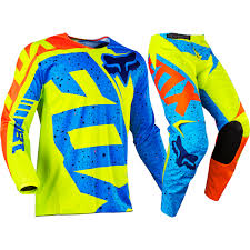 motocross fox fox 2017 kids mx new 180 nirv yellow blue jersey pant toddler