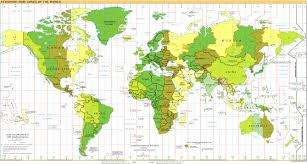 time zones of the world map large version