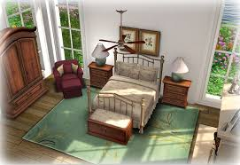 Brass Bedroom Furniture by Second Life Marketplace Taupe Floral U0026 Antique Curved Brass