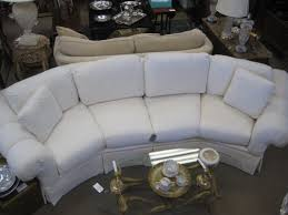 Curved Conversation Sofa by Thomasville White Curved Sofa Revival Home Inventory Pinterest