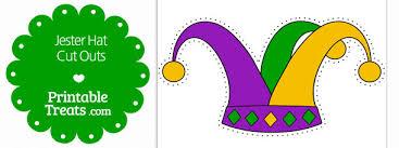 mardi gras hat printable jester hat cut outs printable treats