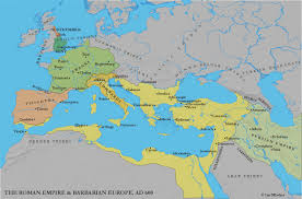 Historical Maps Of Europe by Mediterranean World Barbarian Kingdoms And Byzantium C 600 On