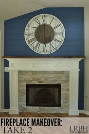 fireplace makeover take 2 little red brick house