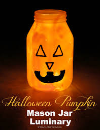 pumpkin mason jar luminary pinkwhen