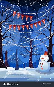 snowy christmas pictures vector winter landscapechristmas background snowy christmas stock