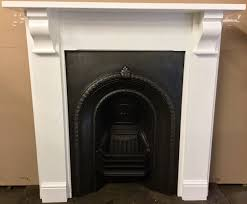 original victorian cast iron fireplace with painted solid wooden
