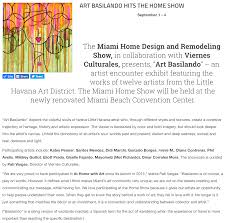 press coverage home design and remodeling show art basilando hits the home show cultureowl com