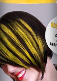 yellow hair dye color spray in neon bright blonde temporary