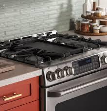 kitchen tile backsplash design ideas with ge gas range plus