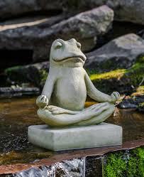 meditating zen frog garden statue cast garden statues and frogs