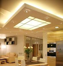 kitchen ceiling lighting ideas suspended ceiling with both up lighting and a lightbox in the