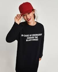 plush jersey dress with slogan mini dresses woman zara united