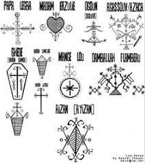 vector art voodoo spiritual dieties symbols set 13 ancient