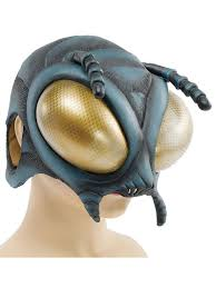 new fly bug alien latex rubber overhead scary fancy dress