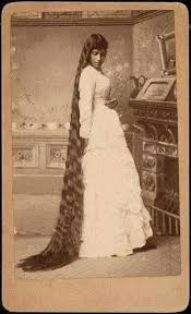traditional cherokee hair styles one of the seven sullivan sisters all known for their long hair