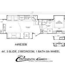 Rv 2 Bedroom Floor Plans 2 Bedroom 5th Wheel Rv Floor Plan Slyfelinos Two Bedroom Fifth