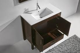 Walnut Bathroom Vanity Adornus Trento 30 Inch Contemporary Walnut Bathroom Vanities