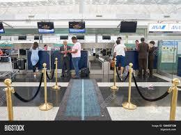 hong kong may 12 2016 design of etihad check in counters at