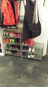 hyllis shelving became shoe rack ikea hackers ikea hackers