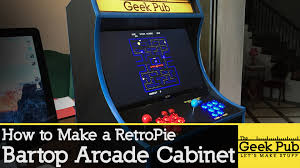 build your own arcade cabinet build a retropie bartop arcade cabinet with a raspberry pi youtube