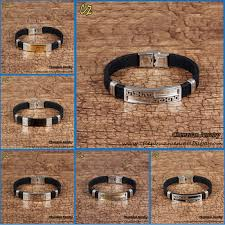 rubber bracelet with gold images Stainless steel genuine gold men silicone rubber bracelet mens jpg