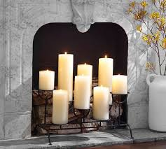 fireplace candlelight holder pottery barn home sweet