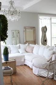 Shabby Chic Sectional Sofa by Martha Stewart Bedford Gray Family Room Shabby Chic Style With